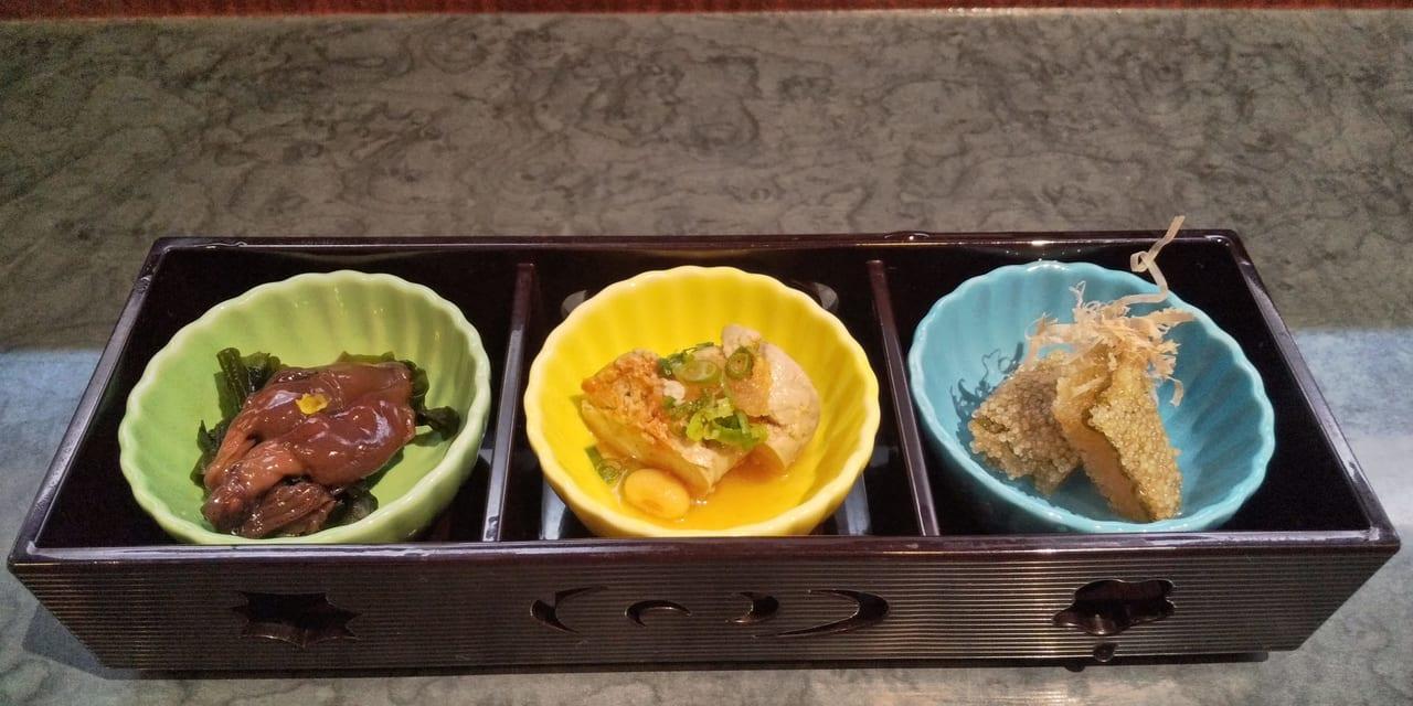 寿司処りんどう3点小鉢